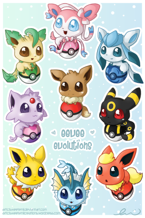 eeveelutions-postcard-signed